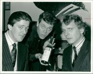Richard Michael Mayall with stephen fry and hauch laurie.