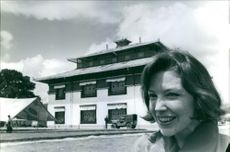 A photo of Hope Cooke outside a temple.