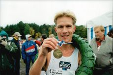 Paul Evans, England, winner of the Liding Race in 1995