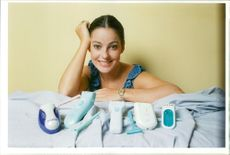 Actress Ruthie Henshall with lady shavers