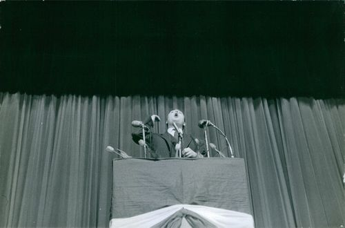 Man delivering speech.