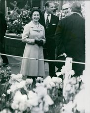 The Queen Elizabeth visits the Chelsea flower show.