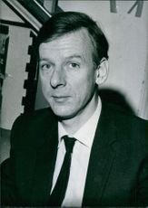 A photo of a British politicians Peter Shore, Britain's Minister of Economic Affairs.