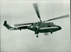 Helicopter over north sea.