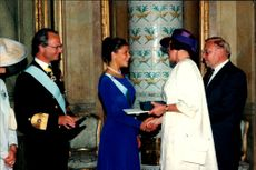 Crown Princess Victoria receives a necklace from the Swedish government by Birgitta Dahl on her 18th birthday