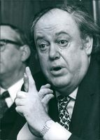 Common Market official Sir Christopher Soames, PC, CGE, 1974.