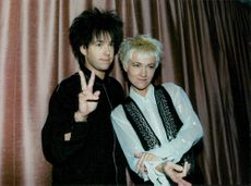 Per Gessle and Marie Fredriksson in Roxette at the start of their European Tour