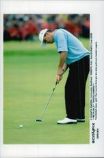Paul Lawrie makes his last putt and secures victory in the British Open.
