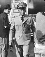 Yul Brynner in uniform.