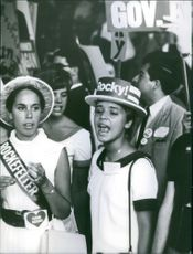 A photo of Nelson Rockefeller's supporters in Miami.