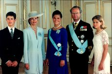 Crown Princess Victoria together with the Royal Family on her 18th birthday
