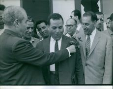 Ferhat Abbas is meeting his colleagues.  1967