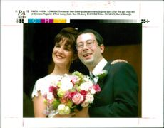 British Comedian Ben Elton with his wife Sophie Gare