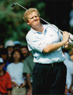 Golf player Colin Montgomerie under Scandinavian Masters 1995