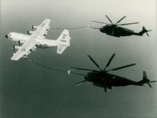 """SUPER STALLIONS"" REFUELLED IN MID-AIR"