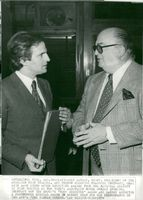François Truffaut together with the president of American Film Theathre