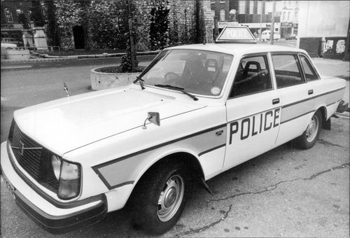 Volvo is used as a police car in England