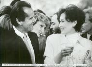"""Actors Jack Nicholson and Meryl Streep in the movie """"I Lust and Need"""""""