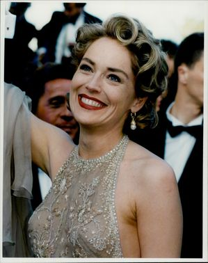 Sharon Stone during the Cannes Film Festival