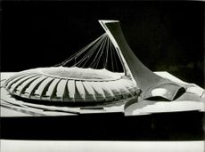 Model of the Olympic Stadium - Olympic Games in Montreal 1976