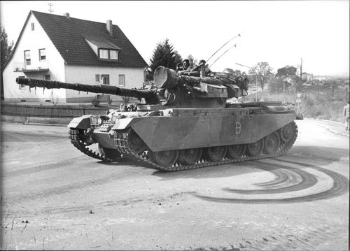 An armored car in Amberg