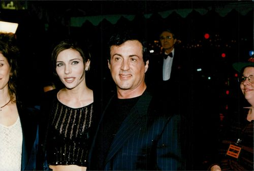 "Sylvester Stallone with Jennifer Flavin at the premiere of ""Daylight"""