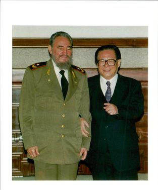 Jiang Zemin Former General Secretary of the Communist Party of China with president fidel castro.