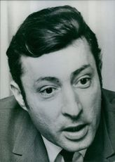 Close up photograph of Gilbert Tordjman. 1969.