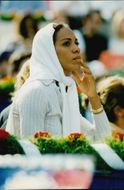 Boris Becker's wife Barbara Feltus in the audience during the Monte Carlo Open final