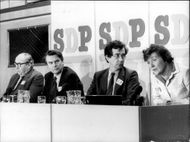 Roy Jenkins, Dr. David Owen, William Rodgers and Shirley Williams, leader of the updated Social Democrats.