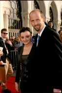 Actor Anthony Edwards photographed with his friend at the Los Angeles Golden Globe Award.