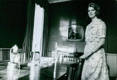 The Ambler family. Princess Margaretha, Mrs. Ambler, in the dining area. 1967.