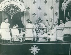 The inauguration of Pope Pius XII.
