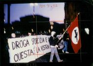 Italy Demonstrations: Naziskins demonstration in Rome.