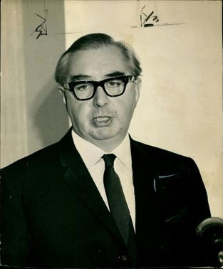 Mr George Brown after announced his resignation as Foreign Secretary