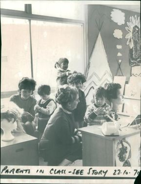 Schools 1970-1979:Parents in class.