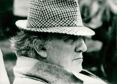 Portrait image of Frederico Fellini taken in an unknown context.