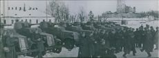 Russian soldiers in Viborg during the Winter War. March 1940