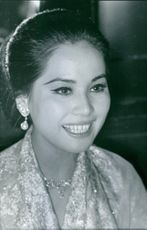 Close up of Dewi Sukarno, First lady of Indonesia