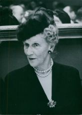 Nancy Witcher Langhorne Astor, photographed at the Senate Restaurant at the Capitol, Washington.
