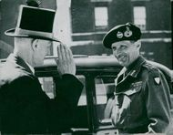 Field Marshal Viscount Montgomery on a visit to London