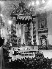 Pope Paul VI giving mass.