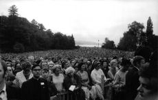 People gathered together for Pope Paul VI.  Photo taken on 12 June 1969