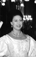 Princess Margaret in a portrait.