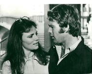 Jacqueline Bisset actress with Ryan O'Neal