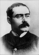 Portrait of author Rudyard Kipling