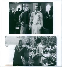 Different scenes from the film Kiss of Death with David Caruso, Nicolas Cage and  Samuel L. Jackson, 1995.