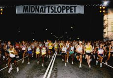 Midnight race to the south of Stockholm