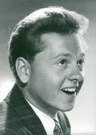 """Mickey Rooney in the movie """"Over all obstacles"""" - Year 1944"""