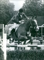 British show jumper, Malcolm Pyrah in action at the 1982 World Championships in Dublin.